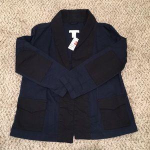 H&M blazer open front jacket size 4 blue